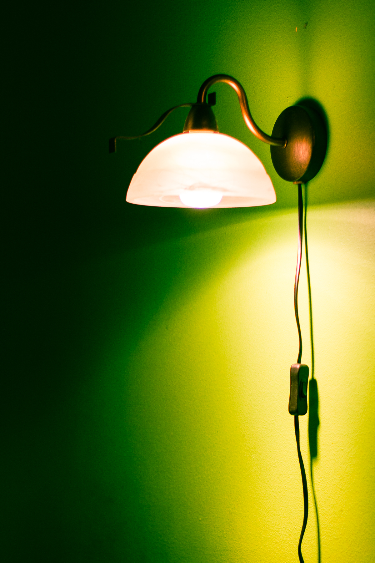 Lamp On A Green Wall Via @Atisgailis