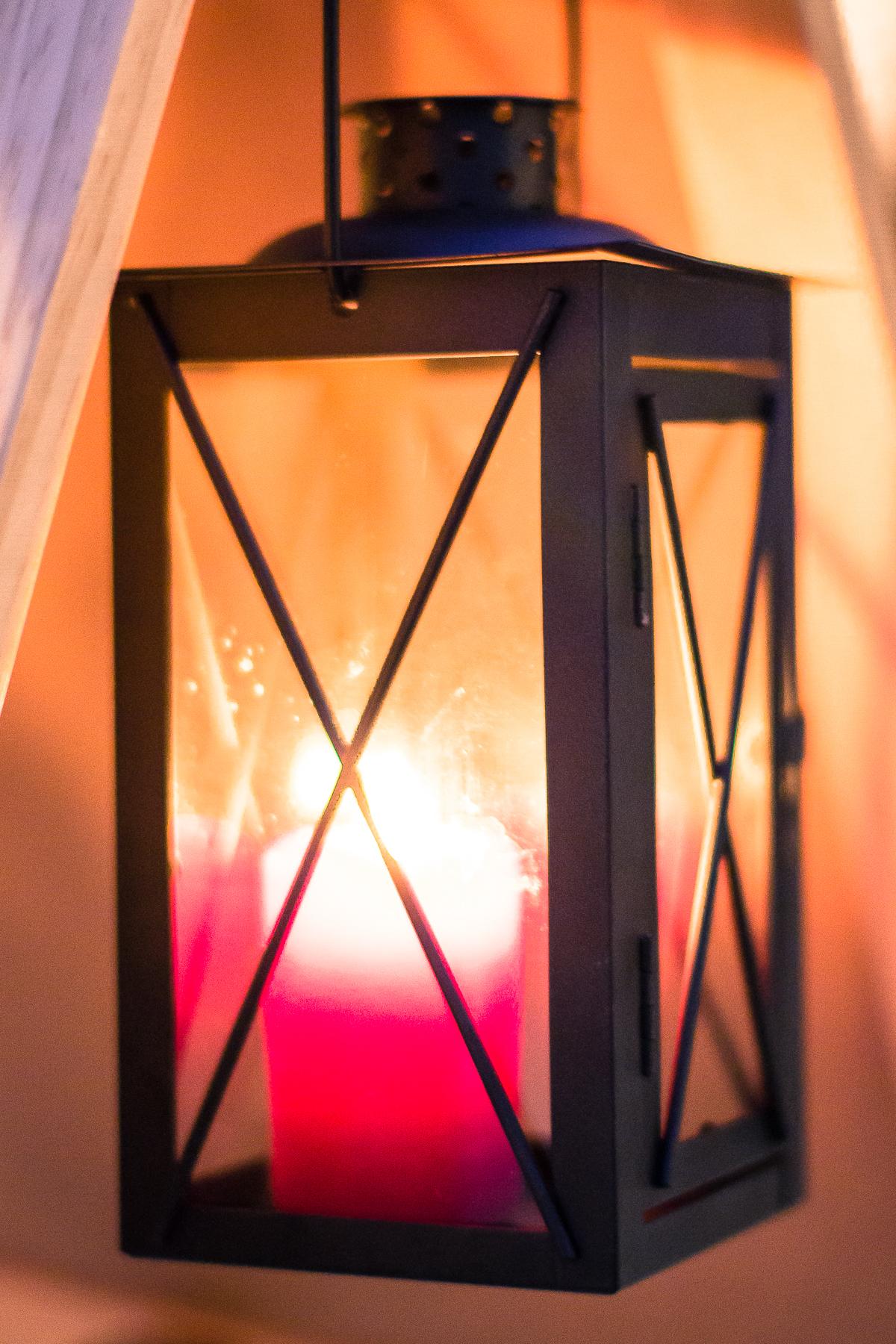 Lantern With Red Candle Via @Atisgailis