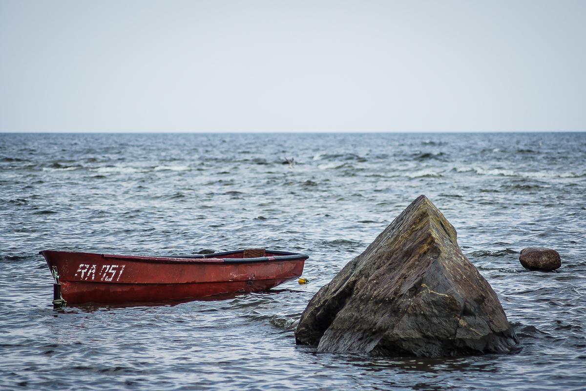 Red Boat And Rock Via @Atisgailis