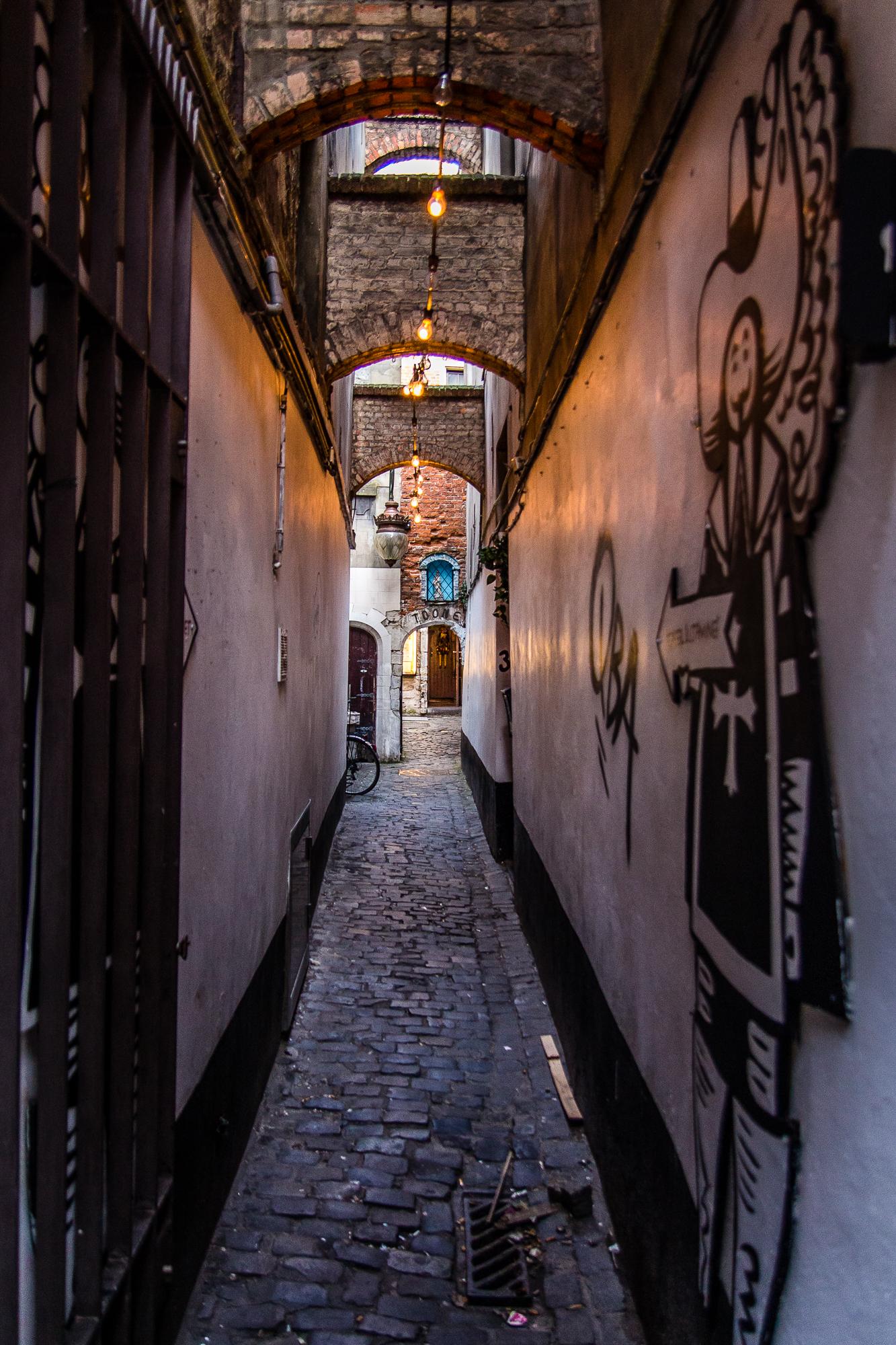Narrow Street Of Brussels Via @Atisgailis