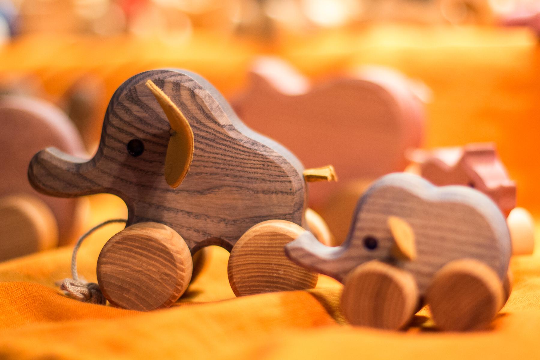 Wooden Elephants Via @Atisgailis