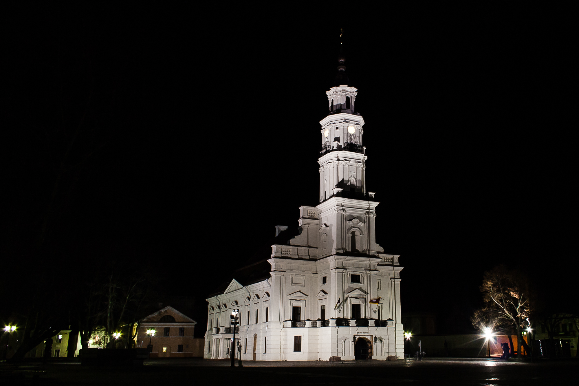 Kaunas Town-Hall At Night Via @Atisgailis