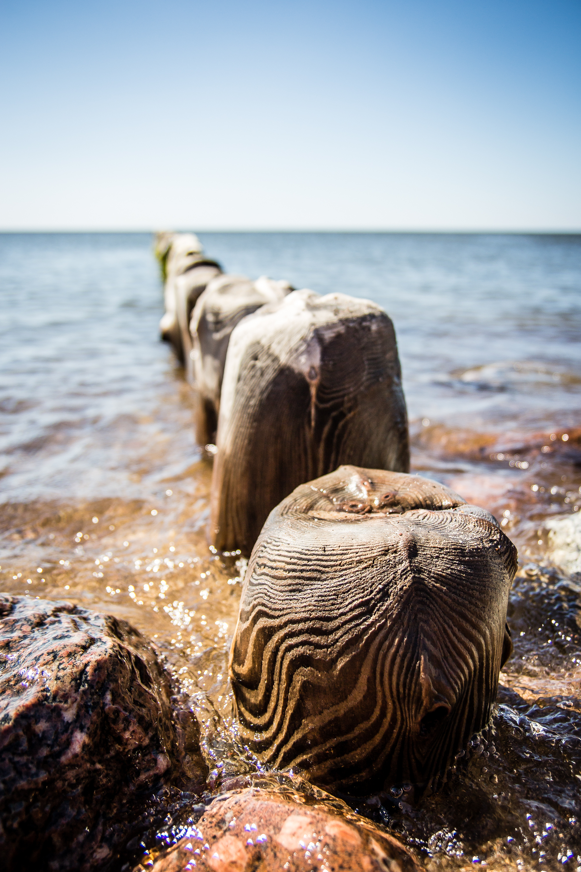 Wooden Piles In The Sea Via @Atisgailis