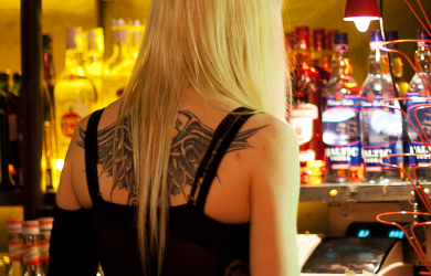 Angel of the bar