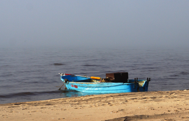 Boat And Fog