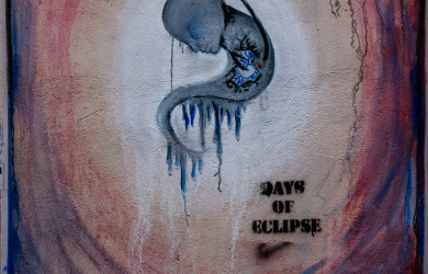 Day Of Eclipse Graffiti