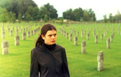 Girl In A Wwii German Cemetery Near Saldus, Latvia