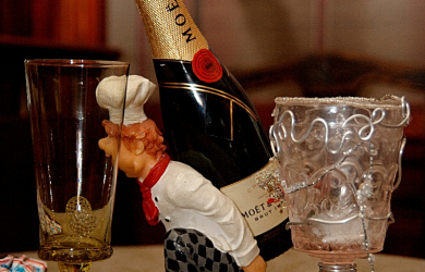 I brought you a champagne