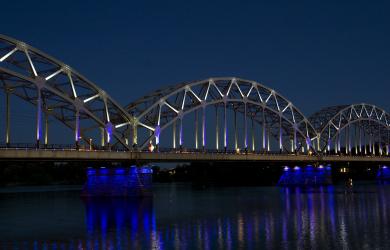 Iron Bridge In Lights