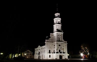 Kaunas Town-Hall At Night