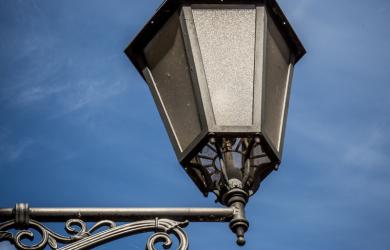 Lantern and blue sky
