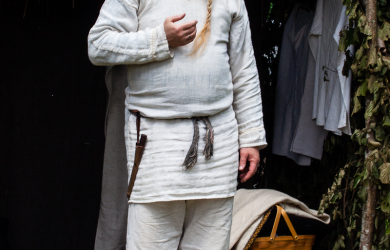 Old Man In White