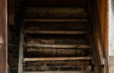 Old Wooden Stairway