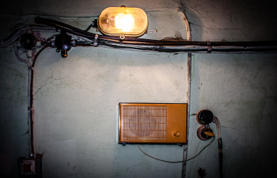Wall With Radio