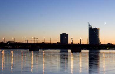 Riga At Dusk