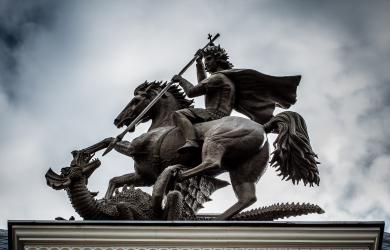 St. George kills the dragon
