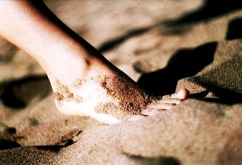 Foot On Sand Via @Atisgailis