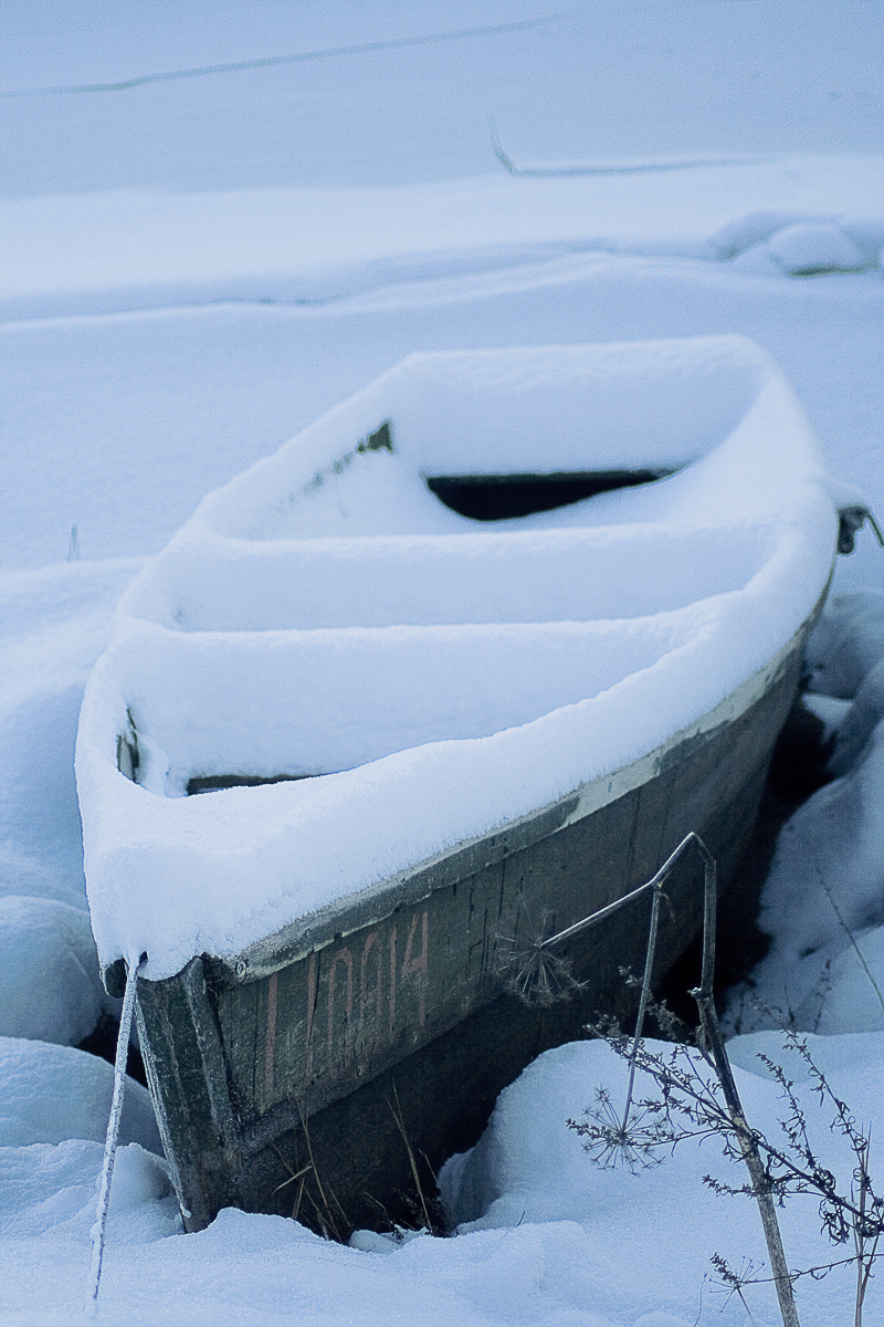 Boat In Snow Via @Atisgailis